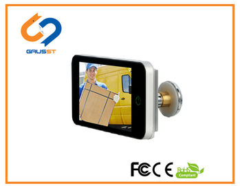 China HD LCD Screen Lookout Smart Door Viewer / Wide Angle Digital Door Viewer Wifi distributor