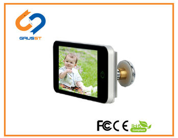 China Low Power Lookout Smart Door Viewer / Home Security 4.0 Inch HD LCD Peephole Viewer distributor